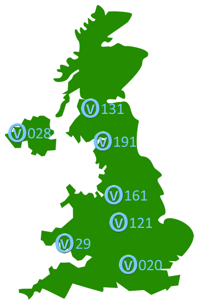 Your Choice of telephone area codes